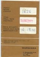 Plan De Ville / Forum Hôtel/Intercontinental/ Pologne/ VARSOVIE/ WARSZAWA/Dépliant Publicitaire/ Vers 1970     PGC129 - Cartes