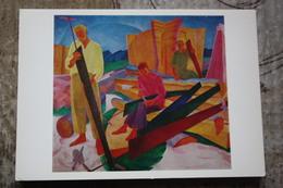 """BOGOMAZOV  """"SHARPENING SAWS"""", 1926- SOVIET Avant-garde - Old PC 1981 Sawing - Saw - Pittura & Quadri"""