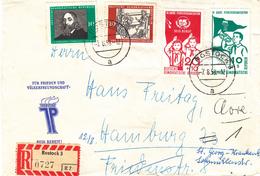 République Démocratique - Lettre Recommandée De 1958 -  Oblitération Rostock - Clairon - Scoutisme  ? ? - DDR