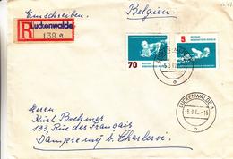 République Démocratique - Lettre Recommandée De 1962 -  Oblitération Luckenwalde - Natation - Water Polo