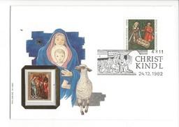 15977 - Christkindl Cover 24.12.1982 Philswiss 10/1982 Vierge Enfant Jésus Crèche - Noël