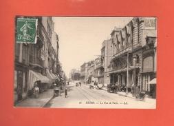 * CPA..dépt 51..REIMS :  La Rue De Vesle..n°16  : Voir 2 Scans - Reims