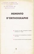 Memento D'orthographe Par Pierre Useldinger, La Baule (1953) - Livres, BD, Revues
