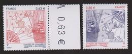 B 261) Frankreich 2013 Mi# 5732-5733 **: Handelsabkommen Mit Dänemark, Schiff Handelsschiff, Kompass Mit Jahreszahlen! - Unused Stamps