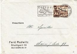 Allemagne - Empire - Lettre De 1940 - Oblitération Stuttgart - Avions - Pub Pour La Luftpost - Gutenberg - Livres - Deutschland