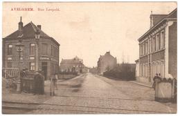 Avelgem - Rue Leopold - 1909 - Geanimeerd - Spoorweg - Avelgem