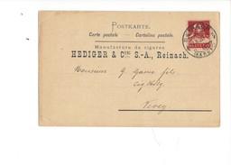 15984 - Carte Facture Publicité Hediger Reinach Argovie Manufacture De Cigares - Publicité