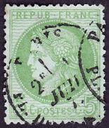 FRANCE  1872  -   Y&T  53  -  Cérès -  Oblitéré - 1871-1875 Cérès