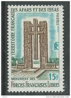 Afars Et Issas N° 347 XX  Monument Aux Forces Françaises Libres à Djibouti Sans Charnière, TB