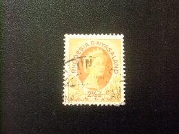 RHODESIA & NYASSALAND 1954 ELIZABETH II Yvert N º 18 º FU - Rodesia & Nyasaland (1954-1963)