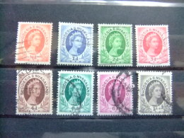 RHODESIA & NYASSALAND 1954 ELIZABETH II Yvert N º 1/7 + 9 º FU - Rodesia & Nyasaland (1954-1963)
