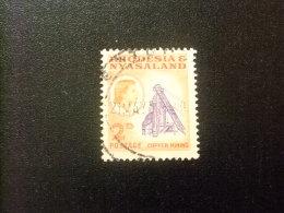 RHODESIA & NYASSALAND 1959 - 62 Minas De Cobre Yvert N º 21 º FU - Rodesia & Nyasaland (1954-1963)