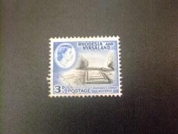 RHODESIA & NYASSALAND 1959 - 62 Tumba De Lord Cecil Rhodes Yvert N º 23 º FU - Rodesia & Nyasaland (1954-1963)