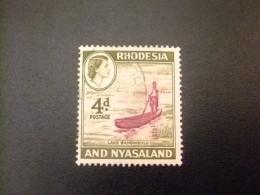 RHODESIA & NYASSALAND 1959 - 62 Lago Bangweulu Yvert N º 24 º FU - Rodesia & Nyasaland (1954-1963)