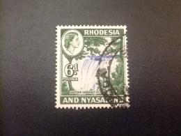 RHODESIA & NYASSALAND 1959 - 62 Saltos De Agua Victoria Yvert N º 25 º FU - Rodesia & Nyasaland (1954-1963)
