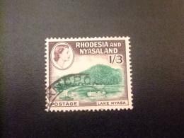 RHODESIA & NYASSALAND 1959 - 62 Lago Nyassa Yvert N º 27 º FU - Rodesia & Nyasaland (1954-1963)