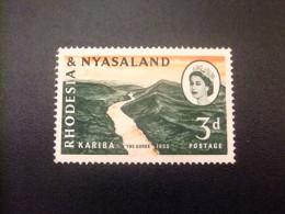 RHODESIA & NYASSALAND 1959 - 62 Gorges De Kariba Yvert N º 33 (*) - Rodesia & Nyasaland (1954-1963)