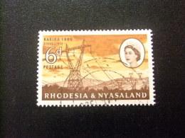 RHODESIA & NYASSALAND 1959 - 62 Torres De Alta Tension Yvert N º 34 º FU - Rodesia & Nyasaland (1954-1963)
