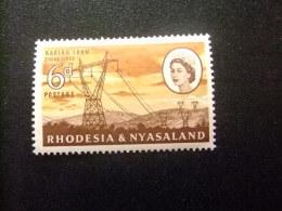 RHODESIA & NYASSALAND 1959 - 62 Torres De Alta Tension Yvert N º 34 * MH - Rodesia & Nyasaland (1954-1963)