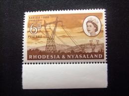 RHODESIA & NYASSALAND 1959 - 62 Torres De Alta Tension Yvert N º 34 ** MNH - Rodesia & Nyasaland (1954-1963)