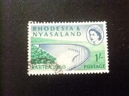 RHODESIA & NYASSALAND 1959 - 62 Presa Y El Lago Yvert N º 35 º  FU - Rodesia & Nyasaland (1954-1963)