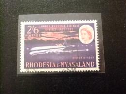 RHODESIA & NYASSALAND 1962 Avión Comet Yvert N º 43 º FU - Rodesia & Nyasaland (1954-1963)