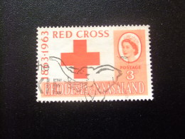RHODESIA & NYASSALAND 1963 Cruz Roja Yvert N º 48 º FU - Rodesia & Nyasaland (1954-1963)