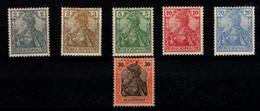 1900 Alemania Imperial - Geman Empire - Reichspost Stamps Yvert 51/55 & 57 - Alemania