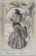 CPA Art Nouveau Femme Woman Girl Circulé Viennoise BKWI 2823 5 - Other Illustrators