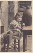 PETITE FILLE CENDRILLONNETTE    (scan Recto Verso) - Portraits
