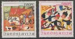 "Jugoslavija Yugoslavia 1981 Mi 1901 /2 YT 1787 /8 ** Children Drawings / Kinderzeichnungen ""Joy Of Europe"" Meeting - Kindertijd & Jeugd"
