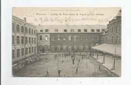 MOUSCRON 13880  COLLEGE DE NOTRE DAME DU TUQUET COUR INTERIEURE 1913 - Mouscron - Moeskroen