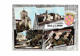 Cpm - 79 - MAUZE-SUR-LE-MIGNON - Multivues - 1966 - Collège - Monument - Mauze Sur Le Mignon