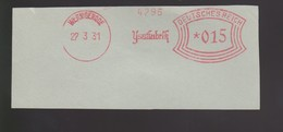 B 394) WERNIGERODE 1931 AFSt  Ysatfabrik, Ysat Lysat Pharmazie Gesundheit - Pharmacy