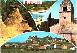 Bedoin - Les Demoiselles Coiffées - Piscine Municipale - Chapelle De La Madeleine - Vue Générale - France