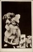 POUPEES - Fantaisie - Jouets - Fantaisie Enfants - CARTE PHOTO - Chien - Jeux Et Jouets