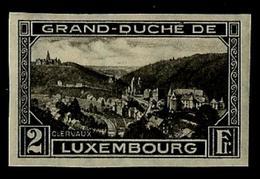 "1934 Luxemburgo - Luxembourg Yvert 208s - Scott 194 2fr Black ""View Of Clervaux"" - NUEVO - 1921-27 Charlotte De Frente"