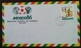 BOLIVIE - FDC 1986 - YT N°668 - COUPE DU MONDE DE FOOTBALL / MEXICO 86 - Bolivien