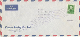 Iran Air Mail Cover Sent To Denmark - Iran
