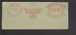 B 397) WURZEN 1931 AFSt WTF Wurzner Teppich Fabrik, Aktiengesellschaft, Wurzen Bei Leipzig - Fabriken Und Industrien