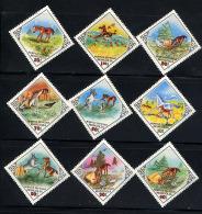 MONGOLIE MONGOLIA 1983, CONTE LE POULAIN ET LE LIEVRE, 9 Valeurs, Neufs / Mint. R1161