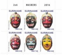 Suriname 2016, Masks, 6val - Disfraces