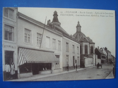 VILVOORDE :  La Rue De LOUVAIN Et L'église De La Consolation - Otros