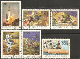 Chad 1972 Mi# 443-448 Used - Apollo 15 Moon Landing / Space