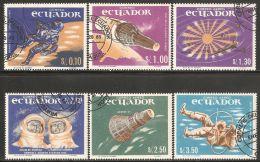 Ecuador 1966 Mi# 1208-1213 Used - Space Exploration