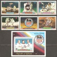 Liberia 1972 Mi# 835-840, Block 61 A Used - Apollo 16 US Moon Mission / Space - Space