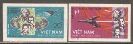 North Vietnam 1965 Mi# 359-360 U (*) Mint No Gum - Imperf. - Flight Of Voskhod 1 / Space - Space