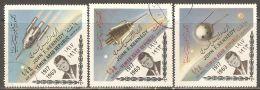 North Yemen 1964 Mi# 332-334 A Used - Overprinted - John F. Kennedy / Space