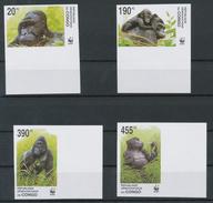 (WWF-310) W.W.F. Congo Kinshasa MNH Gorilla / Monkey MNH Imperf Stamps 2002 - Unused Stamps