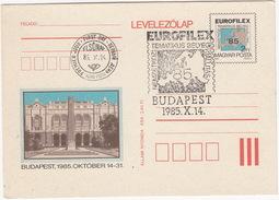 EUROFILEX - Budapest 1985 - First Day Card - Entiers Postaux